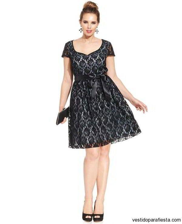 Vestidos cortos de encaje color negro para gorditas 2015 – 19 - https://vestidoparafiesta.com/vestidos-cortos-de-encaje-color-negro-para-gorditas-2015/vestidos-cortos-de-encaje-color-negro-para-gorditas-2015-19/
