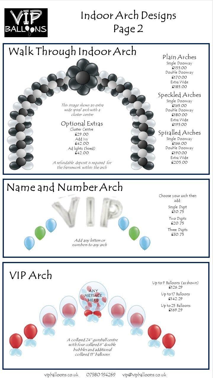 Balloon Decor Price Guide | Balloon decorations, Balloon ...