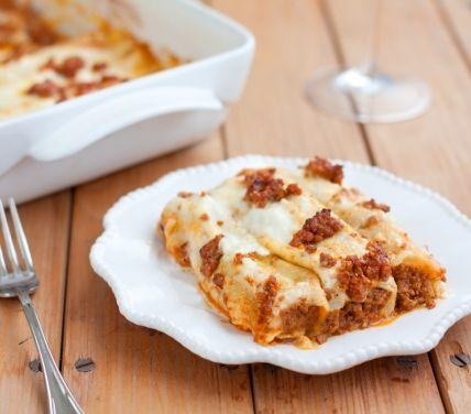 #Cannelloni di crespelle al ragù alla #bolognese