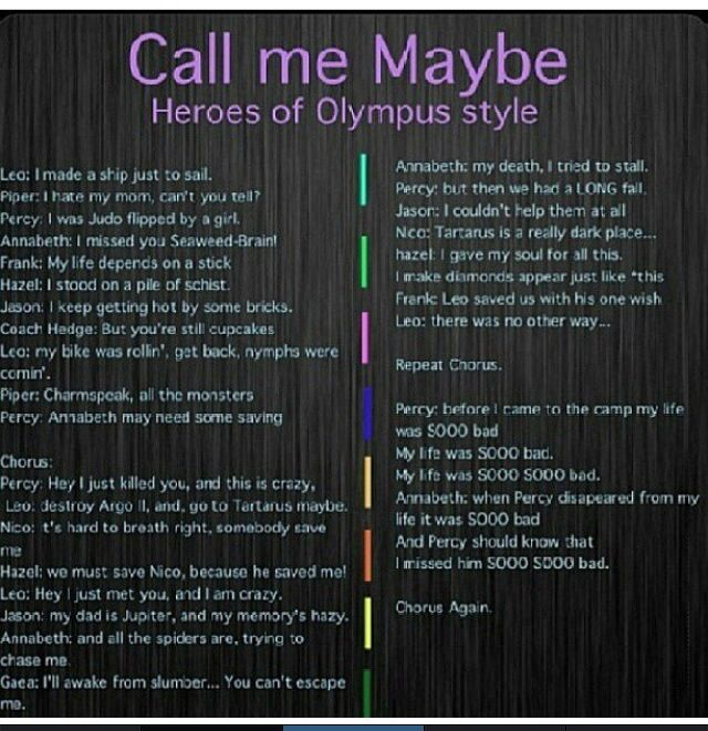call me maybe heroes of olympus style