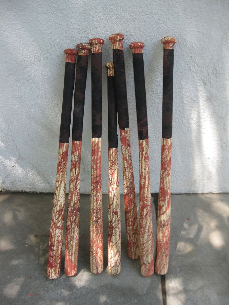 DAVE LOWE DESIGN the Blog: Making a Zombie Bashing Baseball Bat Prop Arsenal