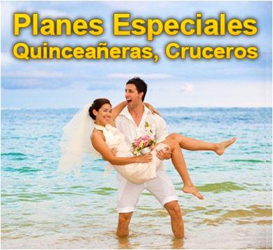 Planes Especiales: Lunas de Miel, Quinceañeras, Cruceros. Ver mas en http://www.viajeprogramado.com/index.php