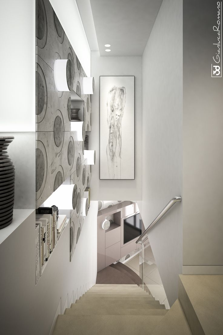 Wall of stair decoration