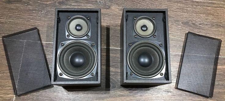 Mitsubishi 30 Watt 2 Way Bookshelf Speakers with metal grills M-S52G     eBay