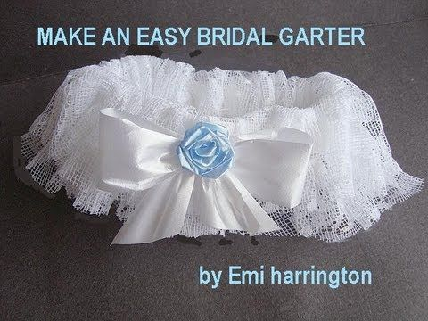 453c793900ae DIY bridal garter-- no sewing machine required. I used lace from my mom's  wedding dress, and used a beaded embellishment from her dress …
