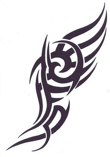 Download Free Simple Tribal Dragon Tattoo Designs tribal tattoo designs to use and take to your artist.
