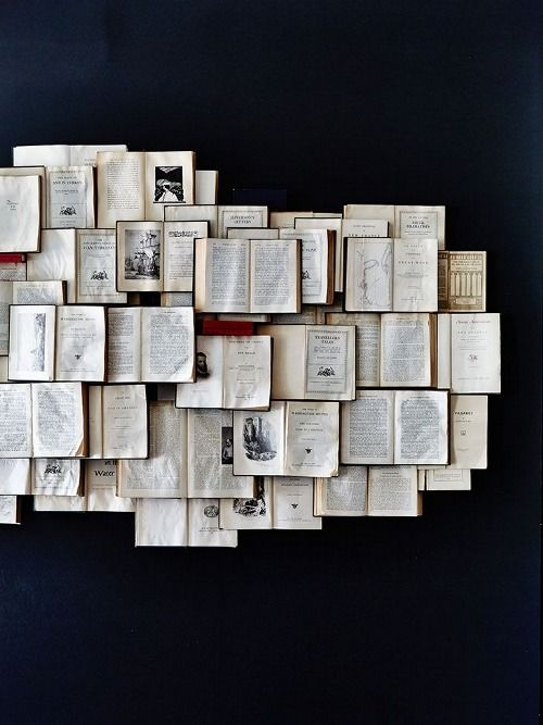 Amazing things to do with old books, I love it!