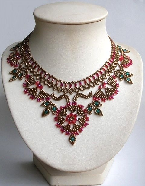 I love this beaded necklace designed by By The Bijoutisse wonderful