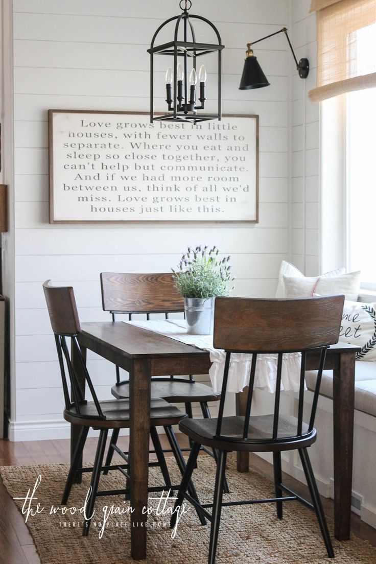 Article 9f2392 white modern side table - 31 31 Cozy And Chic Farmhouse Kitchen D 233 Cor Ideas Digsdigs New Breakfast Nook