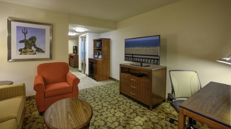 Oceanfront suite at the Hilton Garden Inn Virginia Beach Oceanfront.