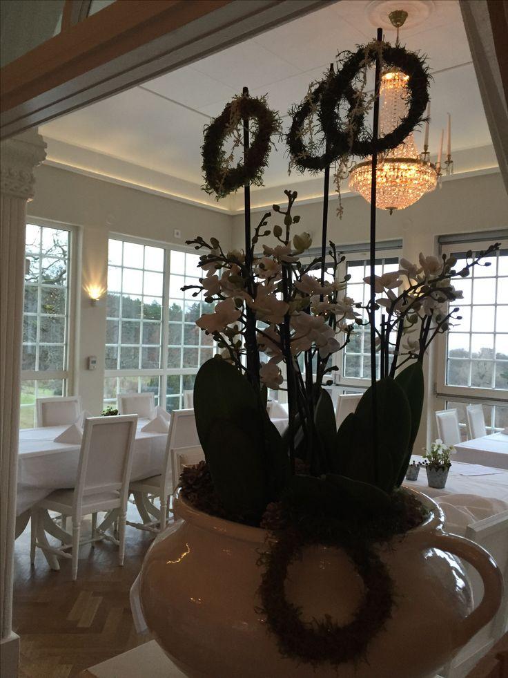 Jul orkidé krans dekoration  Villa Fridhem