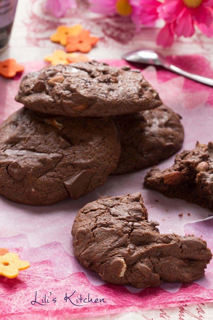 Cookies double chocolat amandes avec ou sans gluten vegan