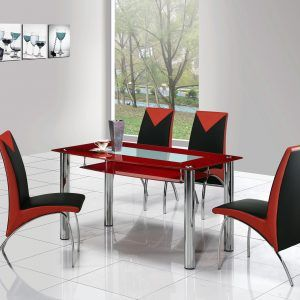 Black And Red Kitchen Table And Chairs