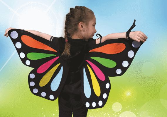 No-Sew Butterfly Wings Costume