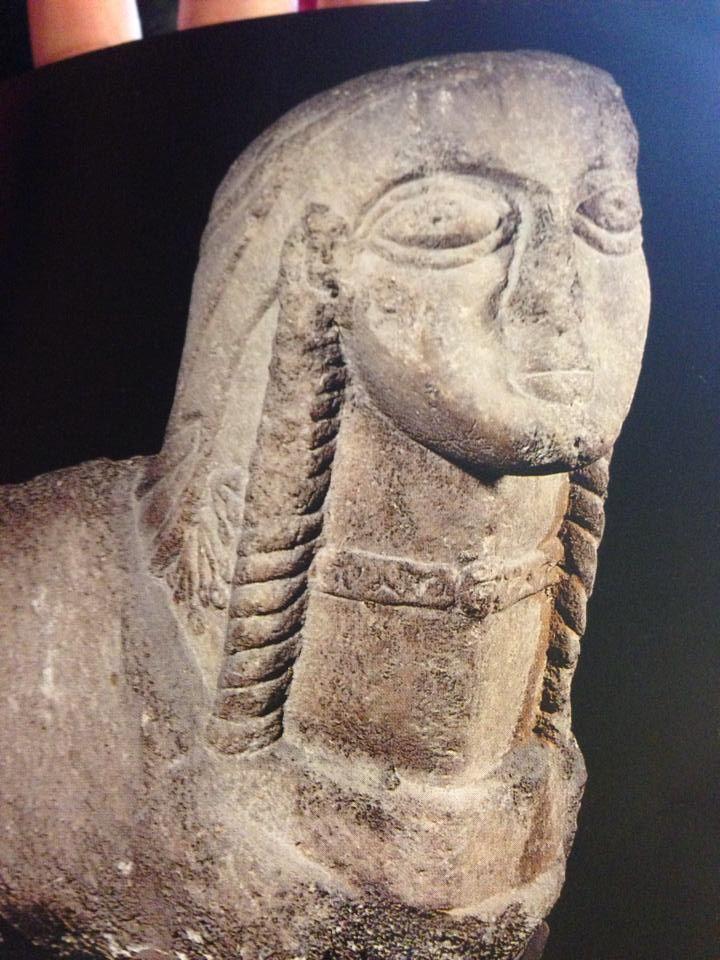 Stone Seljuk female head