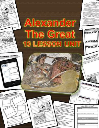 Here is what you get: 1. A map activity about Alexander the Greats empire 2. Short one page read about wether Alexander the Great was a villain or a hero. 3. A graphic organizer for Alexandr the Great to determine if he was a Hero or Villain with questions. 4. A list of Alexander the greats accomplishments and interesting facts. 5. A political cartoon activity with questions. ...and more!