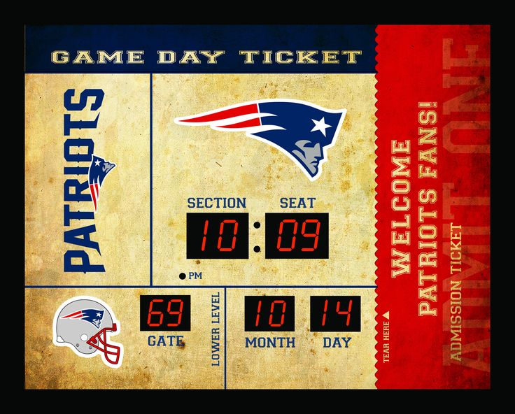 New England Patriots Clock - 14x19 Scoreboard - Bluetooth
