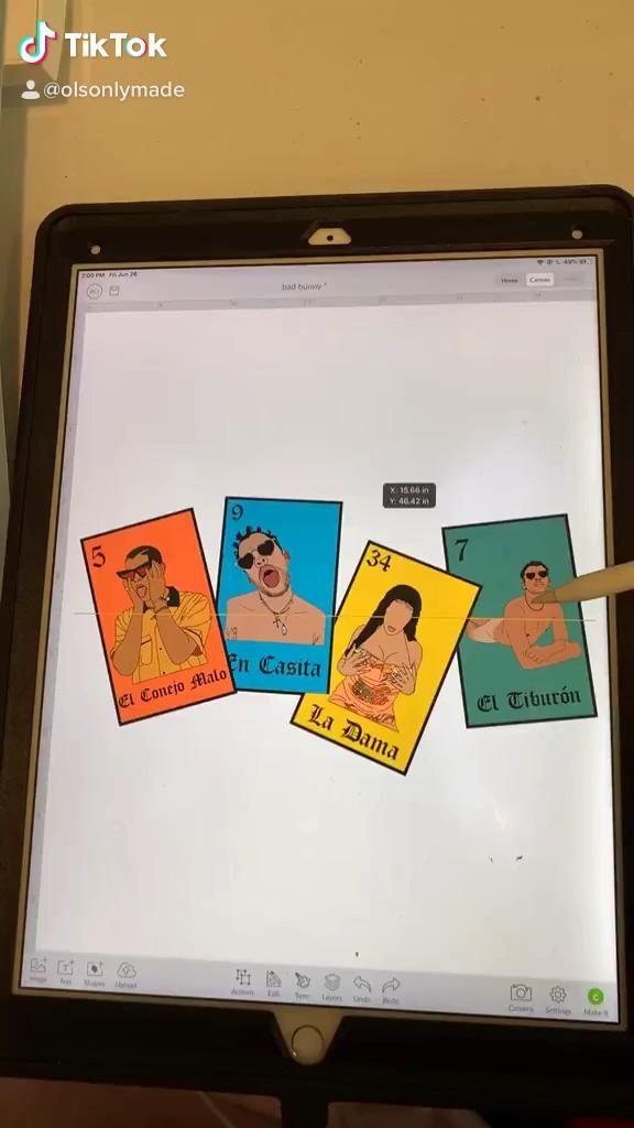 Bad Bunny Yo Perreo Sola Loteria Bad Bunny Loteria Birthday Anniversary Video Diy Crafts For Gifts Crafting Shirts Cricut Projects Vinyl