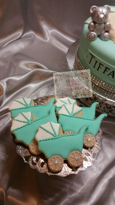 Tiffany & Co. Baby Carriage Cookies www.facebook.com ...