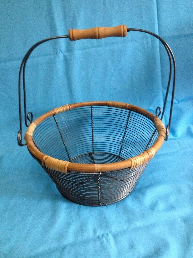 158 best Wire baskets images on Pinterest | Wire baskets, Handle and ...