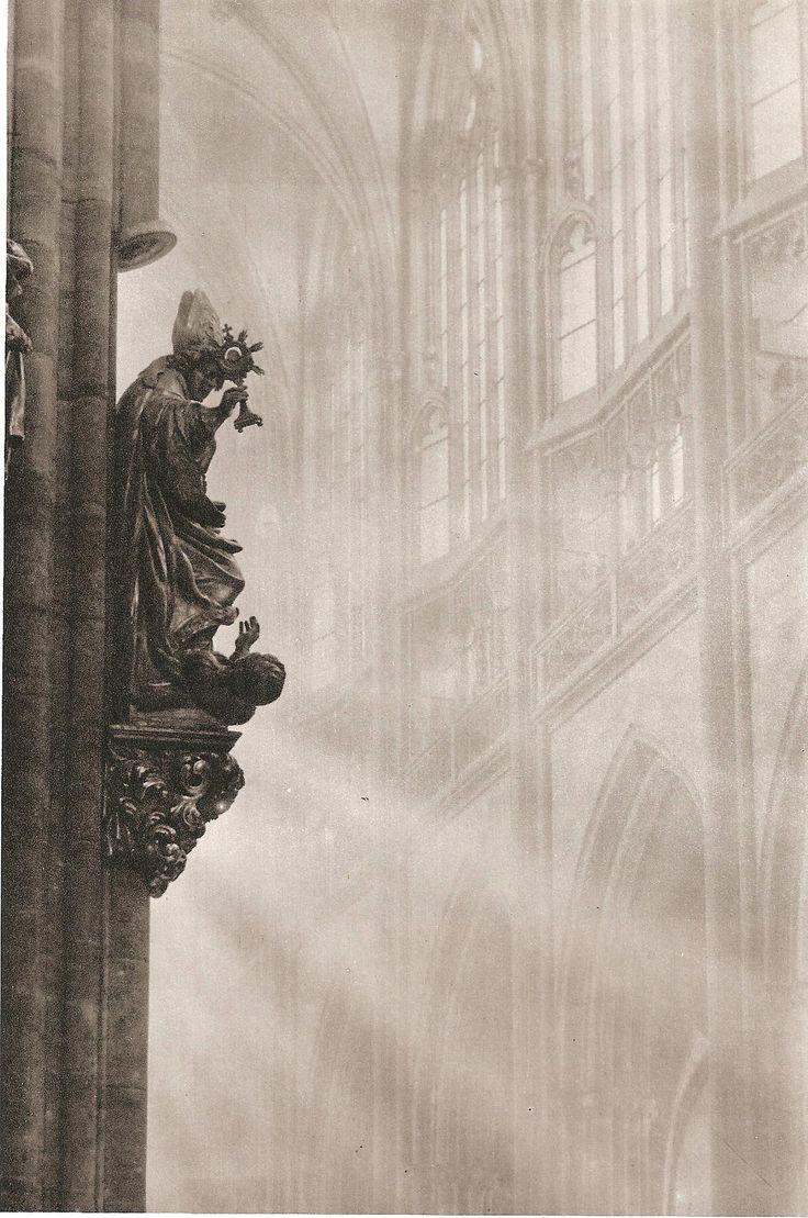 Prague cathedral by Josef Sudek, 50's