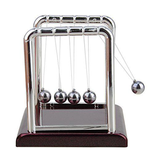 Haiebi®Pendule de Newton – Toy Kinetic Balls Solde Physique exécutif Fun Version luxe: 100% Brand New, de haute qualité! Ce modèle…