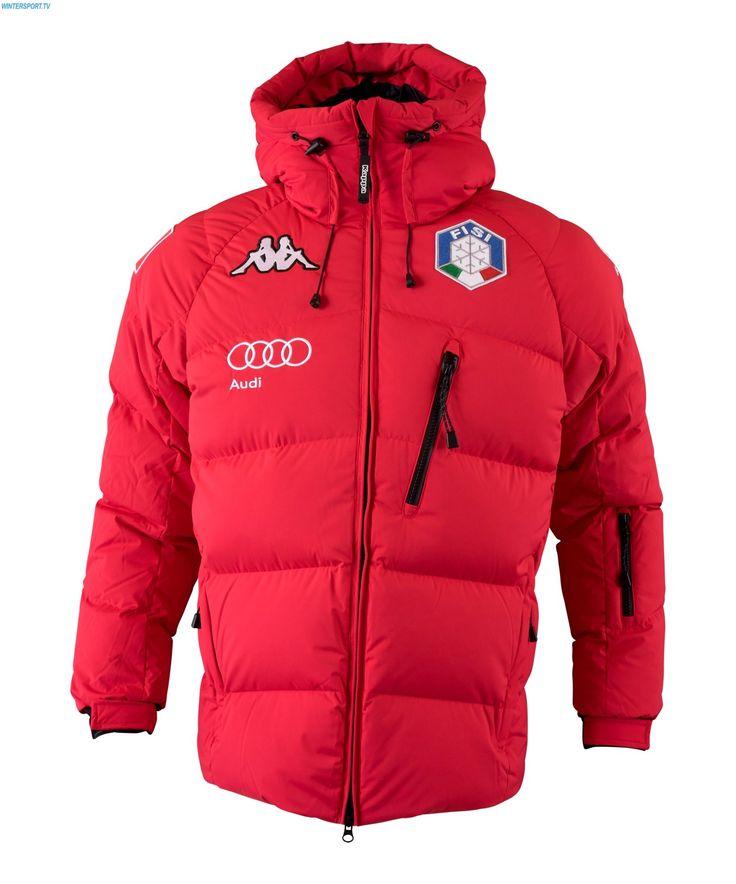 kappa herren italian alpine team fis daunen jacke 15 red