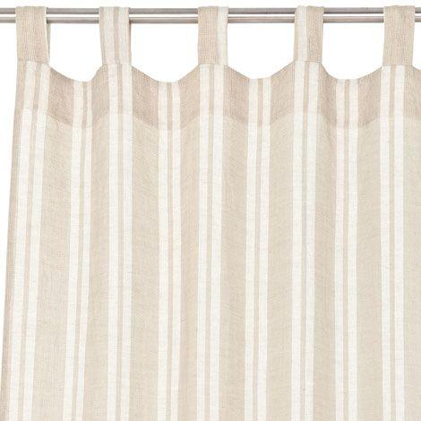 Combined stripe linen curtain zara home united states of - Zara home kids cortinas ...