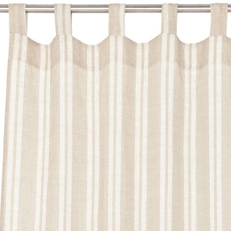 combined stripe linen curtain curtains zara home and home. Black Bedroom Furniture Sets. Home Design Ideas