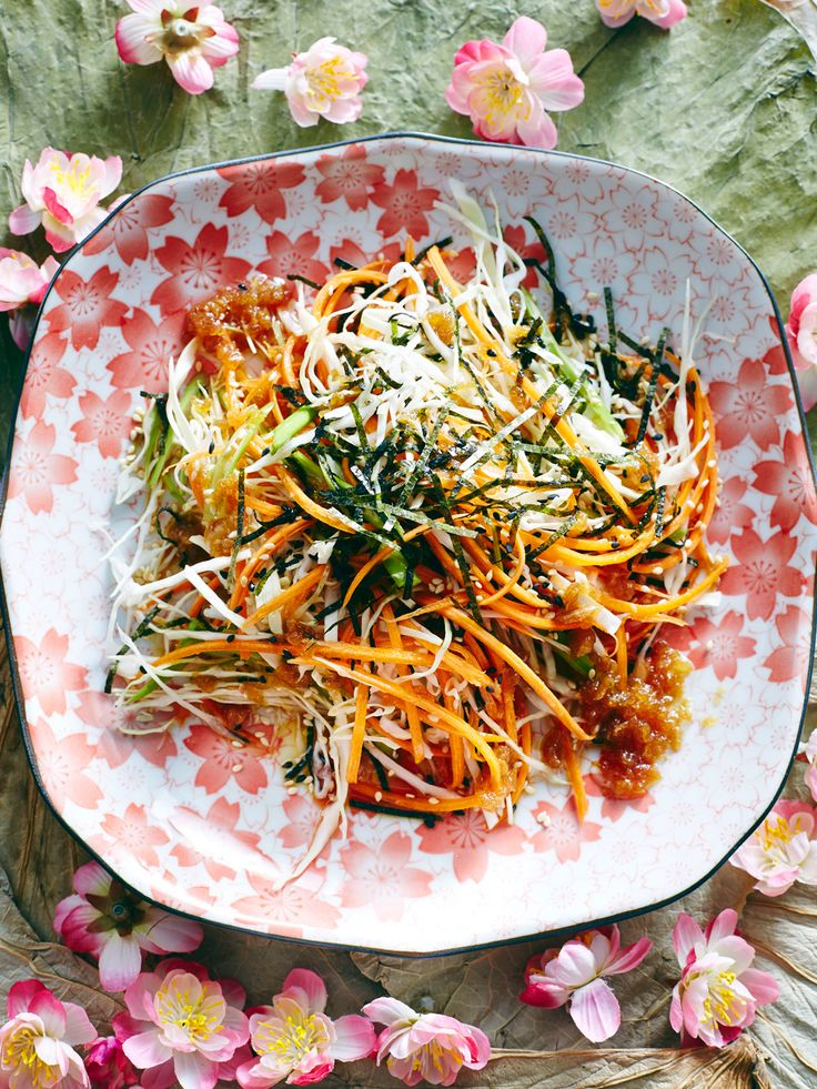 Cabbage salad with wafu dressing