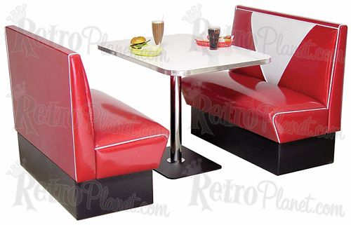 This retro diner booth would be cool for a kitchen nook