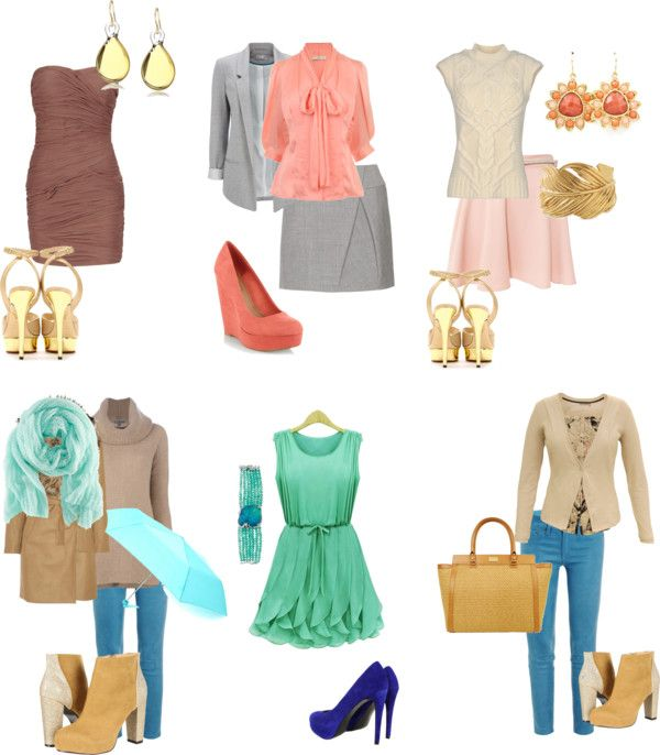 """""""Light spring looks"""" by sabira-amira ❤ liked on Polyvore"""