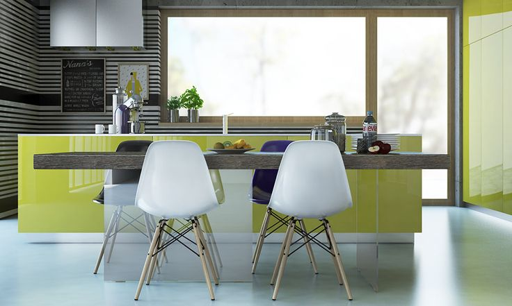Yellow kitchen/ tavolo Air di Lago