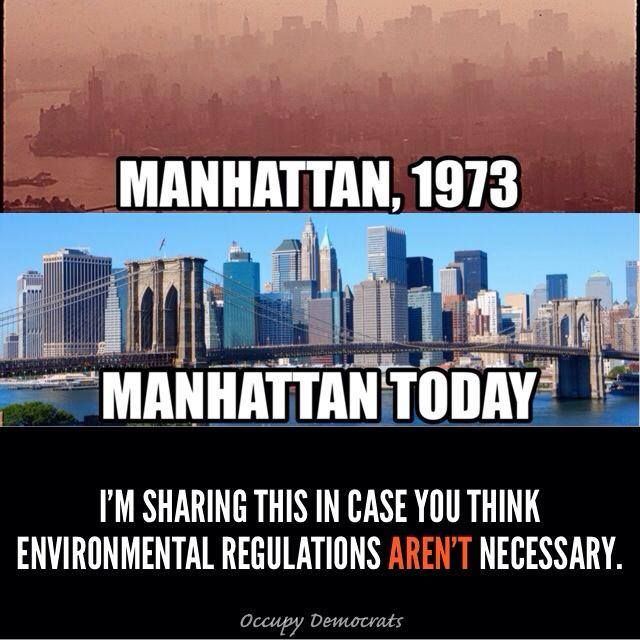Many Americans have forgotten just how smoggy many of our cities were until Nixon signed the Clean Air Act in 1970.