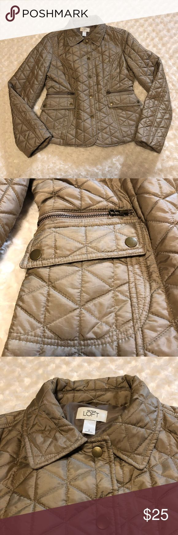 Anne Taylor Loft quilted jacket Ann Taylor Loft quilted jacket Size: 2 Color: Gold - seems to be iridescent in very good pre-owned condition Ann Taylor Loft Jackets & Coats