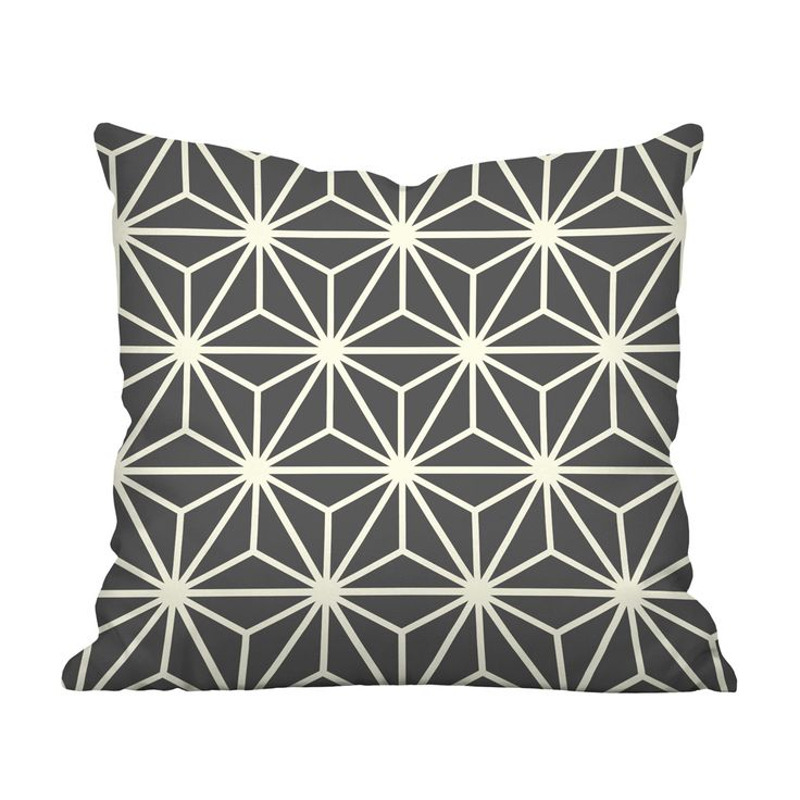 We're entranced by the graphic pattern on the Chasing Stars Throw Pillow. In a high-contrast linear design that creates an exceptional star patterning, this is a beautiful touch in both mid-century and...  Find the Chasing Stars Throw Pillow, as seen in the Mission Industrial Collection at http://dotandbo.com/collections/mission-industrial?utm_source=pinterest&utm_medium=organic&db_sku=111623