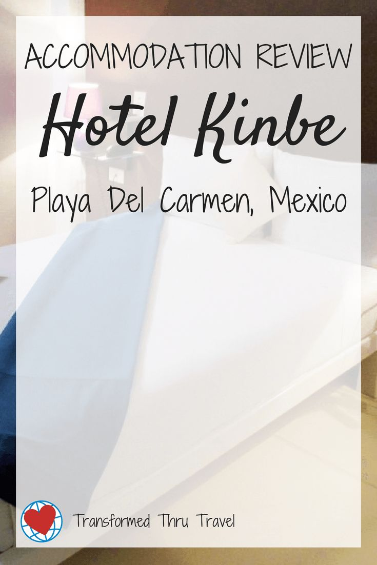A review of Hotel Kinbe in Playa Del Carmen, Mexico. Budget travelers will love to splurge on this quiet, charming hotel near the city center. #hotel #review #accommodation #mexico #playdelcarmen #travel #traveltips #budgethotel