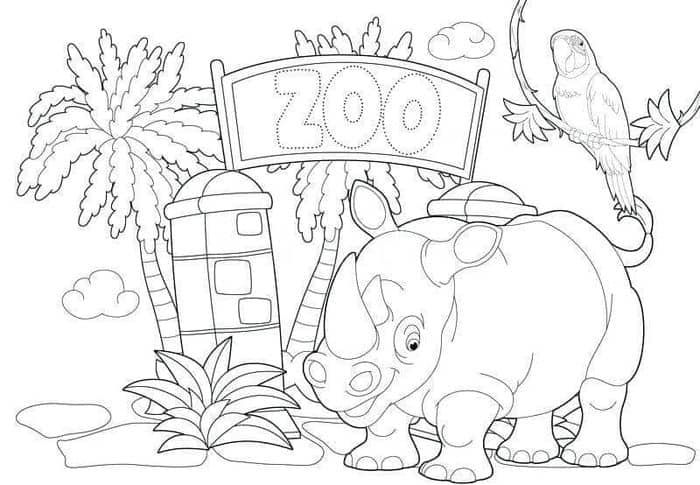 Zoo Coloring Pages For Preschoolers Zoo Coloring Pages Animal Coloring Pages Bird Coloring Pages