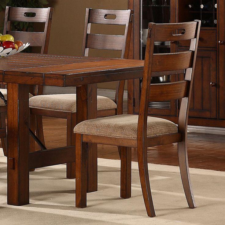 TRIBECCA HOME Swindon Rustic Oak Classic Dining Chair Set Of