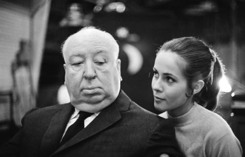 Alfred Hitchcock & Claude Jade photographed by Harry Benson, 1969.
