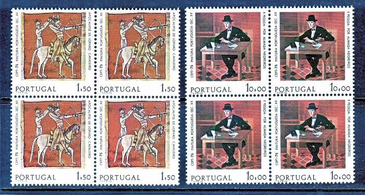PORTUGAL 1975 EUROPA CEPT BLOCK OF 4 STAMPS, MNH