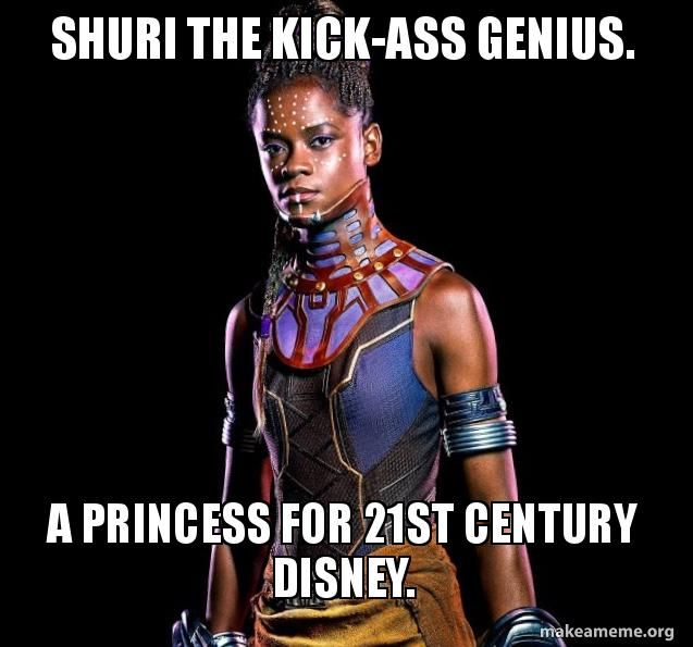 Shuri comes close to stealing the movie.>>comes close? She DID steal that movie and I loved every minute of it