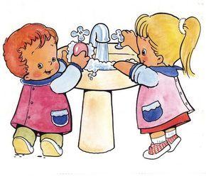 Material educativo para maestros: Carteles para el baño
