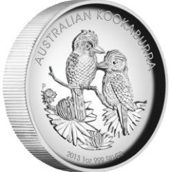 Australian Kookaburra 2013 1oz Silver Proof High Relief Coin