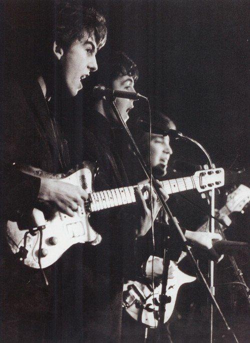 PHOTO IS OF  George, Paul & John, Top Ten Club, Hamburg, 1961