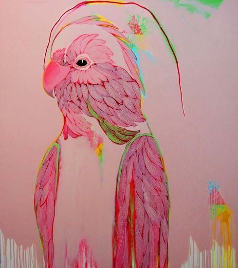Featuring recenlty sold work by Ros Swadling - Pink Galah available at Anthea Polson Art on the Gold Coast Australia, specialising in contemporary Australian art and sculpture
