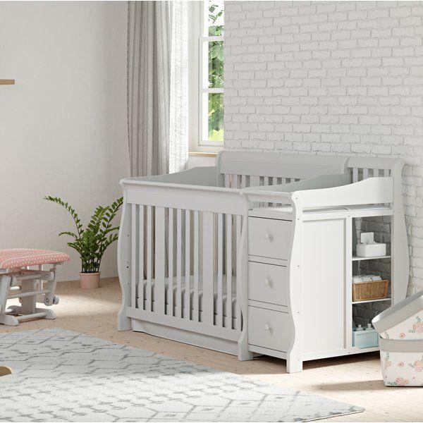 Portofino 4 In 1 Convertible Crib And Changer Cribs Convertible Crib Crib With Changing Table