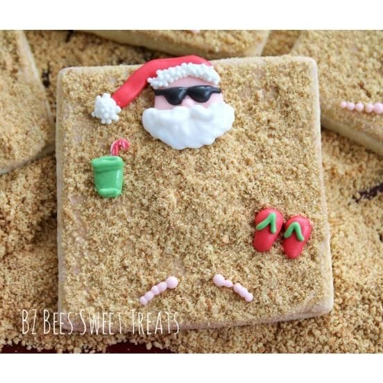 Beach Santa by BZ Bees Sweet Treats