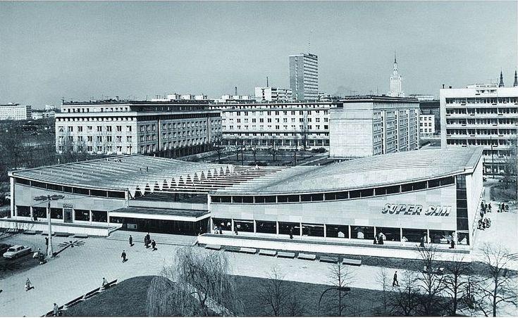 """Sklep """"Supersam"""" , Warszawa, 1969 rok / """"Supersam"""" store, Warsaw, Poland, 1969"""