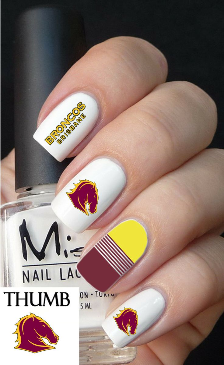 Brisbane broncos nail decals